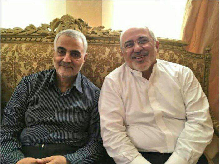دیدار ظریف و سردار سلیمانی پس از ادعاهای اخیر +عکس